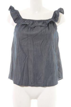 Ralph Lauren Camisa tipo Carmen gris pizarra look casual