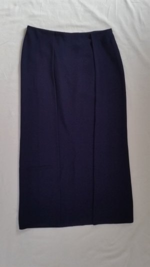 Ralph Lauren Collection, Addison Double-Slit Skirt, navy, 36 (US 6), Viskose/Acetat, neu, € 1.650,-