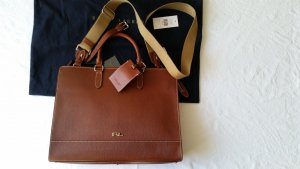 Ralph Lauren Porte-documents cognac cuir