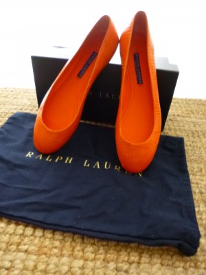 Ralph Lauren Collection, Ballerinas, Kroko, orange, 38,5, neu, € 950, -