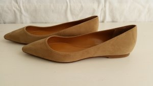 Ralph Lauren Collection, Ballerinas, Veloursleder, camel, EU 39,5, neu, € 350,-