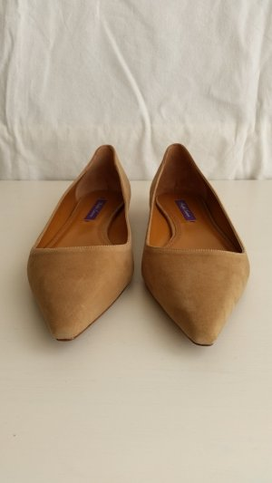 Ralph Lauren Collection, Ballerinas, Veloursleder, camel, EU 39, neu, € 350,-