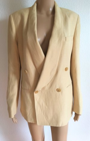 Ralph Lauren Wool Blazer pale yellow mixture fibre