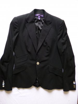 Ralph Lauren Collection, Blazer, Wolle, schwarz, 38 Gr (US 8), € 2.000, -