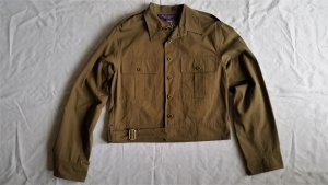 Ralph Lauren Collection, Cameron Jacket, khaki, Baumwolle, 38 (US 8), neu, € 1.850,-