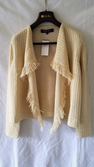 Ralph Lauren Collection, Cardigan, ecru, Seide/Nylon, XS, neu, € 1.590,-