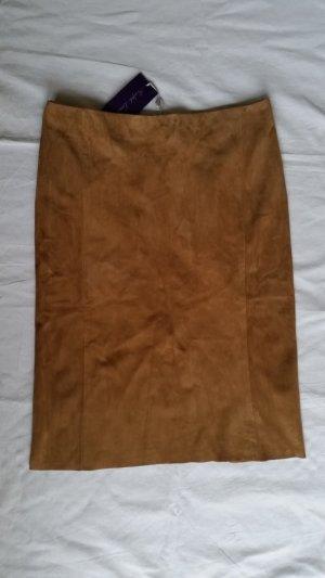Ralph Lauren Collection, Cindy Suede Pencil Skirt, camel, 36, neu, € 1.950,-