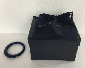 Ralph Lauren Collection, Elliptical Bangle, Harz, navy, neu, € 295,-