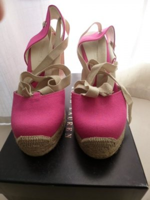 Ralph Lauren Collection, Espadrilles Gayle, Canvas, pink, US 9B, neu, € 250,-