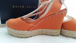 Ralph Lauren Collection, Espadrilles Gayle, Leinen, orange, 39, neu, € 250, -
