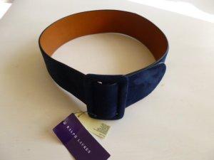 Ralph Lauren Collection, Gürtel, Velours, medium blue, Gr. S, neu, UPE: € 400,-