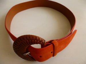 Ralph Lauren Collection, Gürtel, Velours, orange, Gr. S, neu, UPE: € 450,-
