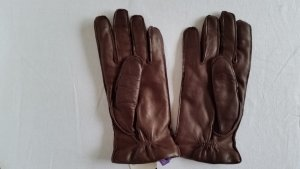 Ralph Lauren Collection, Handschuhe, Leder, braun, Futter Cashmere, anthrazit, 8, neu, € 350,-