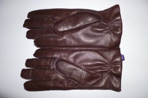 Ralph Lauren Collection, Handschuhe, Leder/Cashmere, braun, Gr. 8, neu, € 300,-