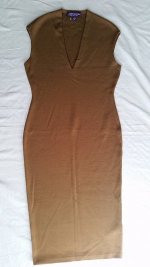 Ralph Lauren Collection, Kleid, braun, L, Merinowolle, neu