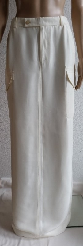 Ralph Lauren Collection, Laurence Skirt, offwhite, Seide, 34 (US 4), neu, € 2.000,-