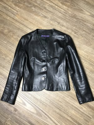 Ralph Lauren Collection Lederjacke schwarz Nappa Gr 36  us 8