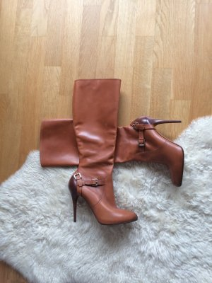 Ralph Lauren Riding Boots cognac-coloured leather