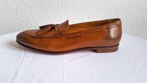 Ralph Lauren Collection, Loafer Quillis Calfskin Flat, tan, 37,5, neu, $ 625,-