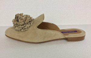 Ralph Lauren Collection, Pantoletten, sand, Veloursleder, EU 39, neu, € 700,-