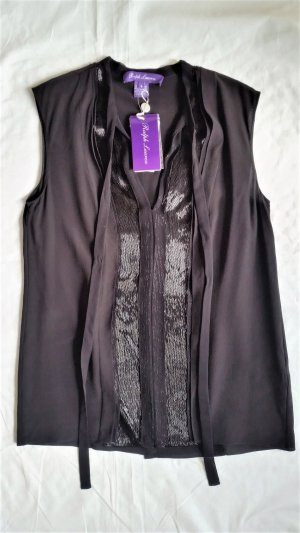 Ralph Lauren Collection, Pauline Beaded Silk Top, schwarz, Seide, 34 (US 4), neu