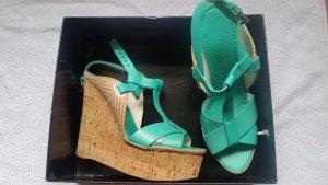 Ralph Lauren Plateauzool sandalen turkoois