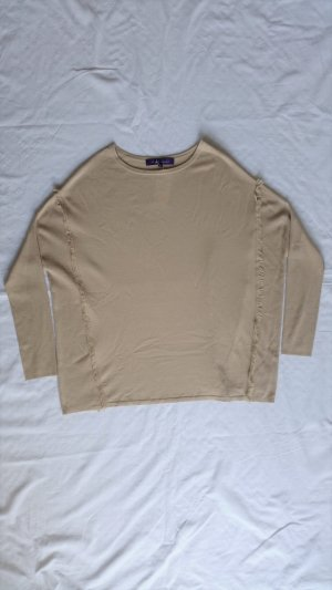 Ralph Lauren Collection, Pullover, beige, oversized, Merinowolle, M, neu