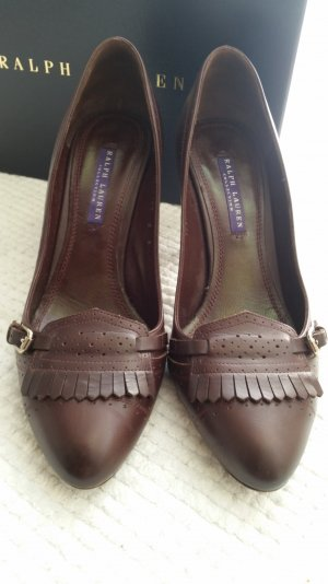 Ralph Lauren Collection, Pumps, 38, bordeauxrot, Leder, € 600, -