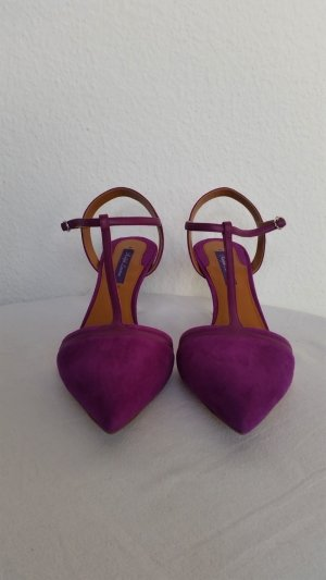 Ralph Lauren Collection, Pumps, berry, Veloursleder/Leder, 39, neu, € 650,-