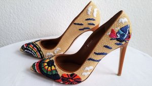 Ralph Lauren Collection, Pumps Celia Natural Multi Straw, Gr. 39, neu, € 800,-