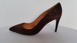 Ralph Lauren Collection, Pumps, espresso, Veloursleder, EU 39, neu