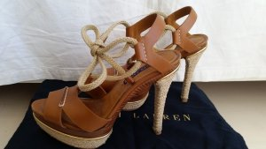 Ralph Lauren Collection, Pumps, Leder, cognac, EU 39, neuwertig, € 690,-