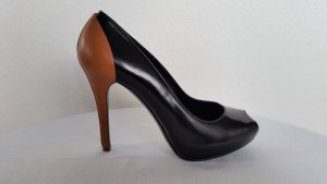 Ralph Lauren Collection, Pumps, Leder, schwarz/cognac, EUR 38, neu, € 690,-