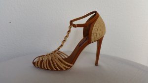 Ralph Lauren Collection, Pumps, natural/tan, Bast/Leder, 40, neu, € 700,-