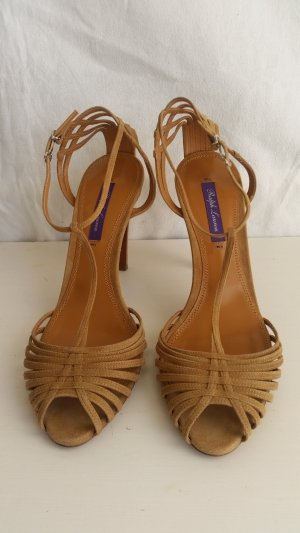 Ralph Lauren Collection, Pumps, Velours, braun, EU 39, neu, € 650,-
