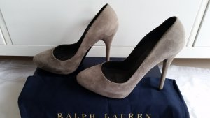 Ralph Lauren Collection, Pumps, Veloursleder, grau, Gr. 38, neuwertig, € 600,-