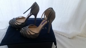 Ralph Lauren Collection, Pumps, Veloursleder, grau, Gr. 39, € 650,-