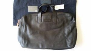 Ralph Lauren Collection, Reisetasche, schwarz, Leder, neu
