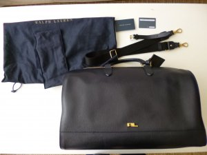 Ralph Lauren Weekender Bag blue leather