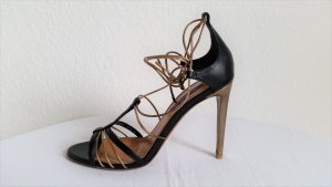 Ralph Lauren Collection, Sandalen-Pumps Blaine Black/Antique, Leder, EUR 38.5, neu
