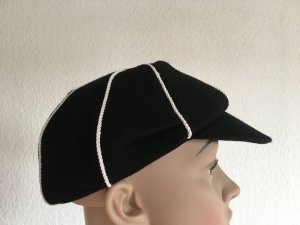 Ralph Lauren Visor Cap black-white wool