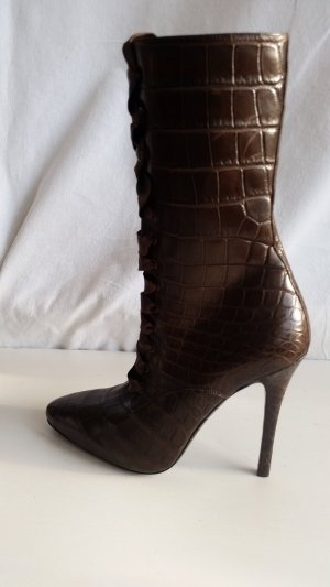 Ralph Lauren Collection, Stiefel, Kroko, dunkelbraun, 37 1/2, neu, € 7.500,-