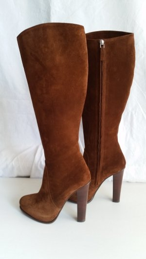 Ralph Lauren Collection, Stiefel, Veloursleder, braun, EU 39, neu, € 1.190,-