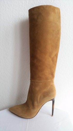 Ralph Lauren Collection, Stiefel, Veloursleder, sandfarben, EU 39,5, neu,  1.200,-