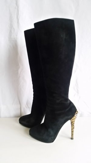 Ralph Lauren Collection, Stiefel, Veloursleder/Swarovski, 39, schwarz, € 1.500,-
