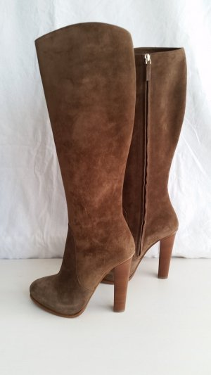 Ralph Lauren Collection, Stiefel, Veloursleder, taupe, EU 40, neu, € 1.190,-
