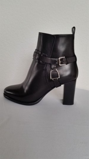 Ralph Lauren Collection, Stiefeletten, schwarz, Leder,  EU 39, neu, € 950,-