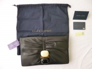 Ralph Lauren Collection, Stone Clutch, Leder, schwarz, neu, € 2.000,-