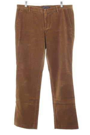 Ralph Lauren Pantalone di velluto a coste marrone stile semplice