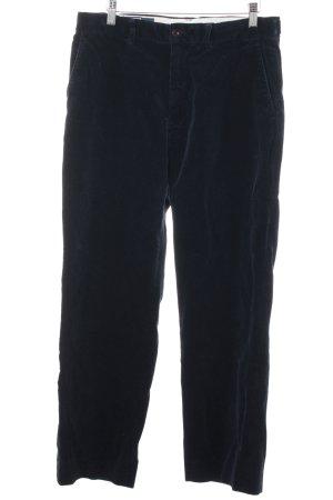 Ralph Lauren Pantalone di velluto a coste blu scuro stile casual